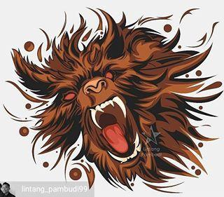 art from @lintang_pambudi99 -  cukup kepala aja . . .  .  .  .  @bestvector_id   @vxvina   @vector_indonesia_real   @digital.art.id   #vector_id #bestvector_id #bestvector #vxvina #digitalart_id #dailyvector #dailyart #artzone #artist #dota #dota_2 #lycanthrope #werewolf #war #legend #game #gaming #paint #instagrapich #artgram #stock #corel #illustration #line #curve #pen #roar #wolf #animal #online