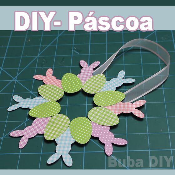 DIY decoração páscoa- Guirlanda de papel .