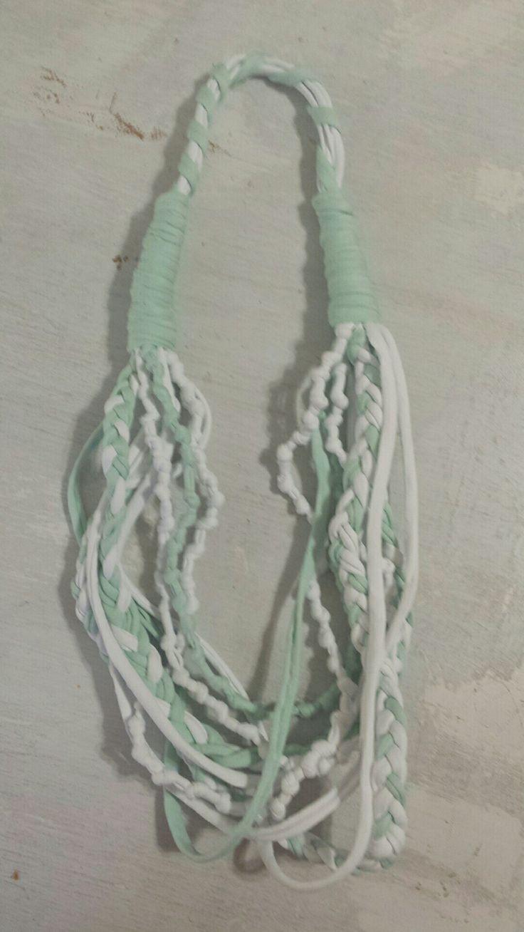 Collana in fettuccia di cotone