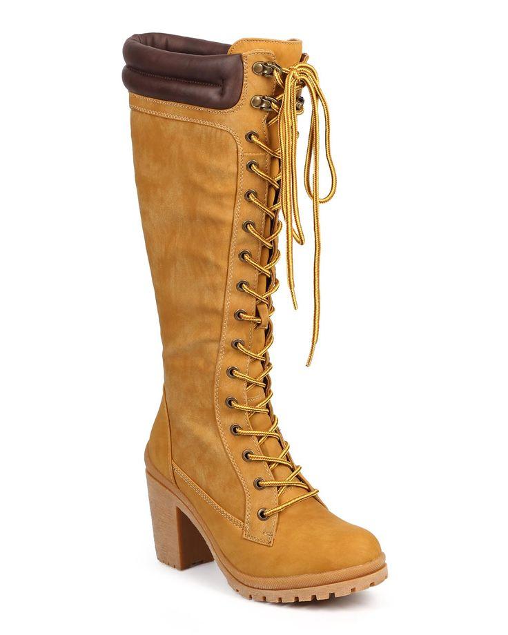 New-Women-Liliana-Hanson-3-Two-Tone-Hard-Toe-Knee-High-Chunky-Heel-Work-Boot-Sz