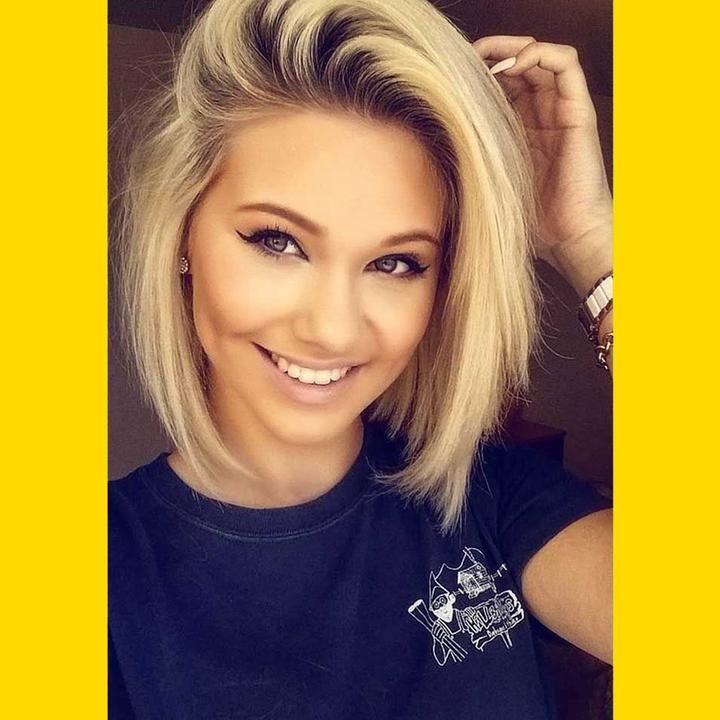 Golden Partial Bangs Short Hair Wig – geek2get.com