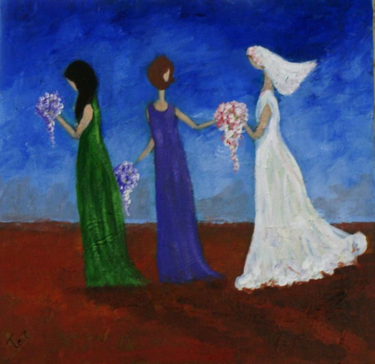 'Country Wedding' Acrylic on canvas, 50cm x 50cm