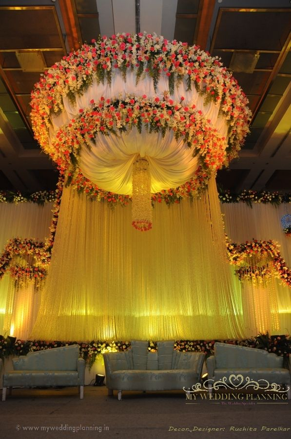 Rustic wedding stage decoration the for Indoor stage decoration