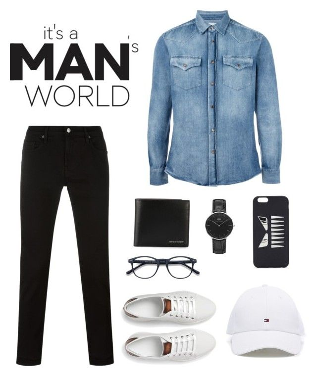 Men OOTD by saskyyy on Polyvore featuring Brunello Cucinelli, Frame, Berluti, Daniel Wellington, Burberry, Fendi, men's fashion and menswear