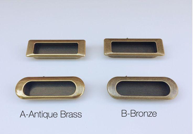 Cabinet Knobs - Recess Antique Brass Drawer Pulls - Antique Brass Drawer Knobs -  Drawer Pulls - Drawer Pulls by ForgeHardwareStudio on Etsy https://www.etsy.com/listing/491807107/cabinet-knobs-recess-antique-brass