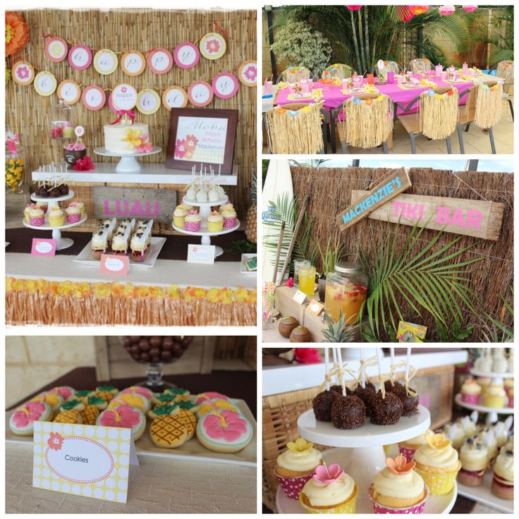 Here's a great girl birthday party idea!  How about throwing a Hawaiian luau party? #partyideas http://catchmyparty.com/parties/mackenzies-hawaiian-luau-8th-birthday-bash
