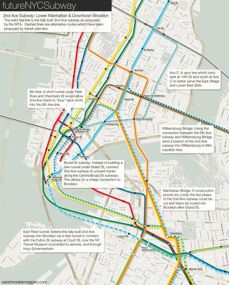 2nd Ave subway alternatives in lower Manhattan.
