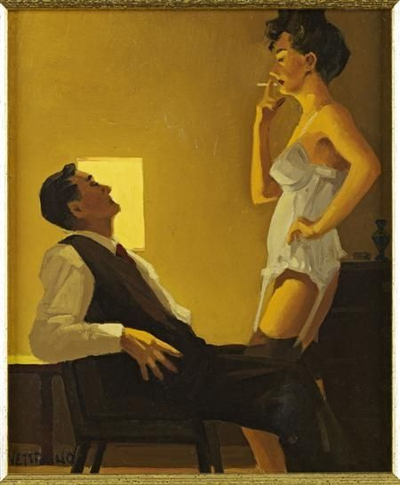 Jack Vettriano - The White Basque - Study
