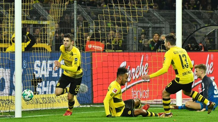 Christian Pulisic winner vs. Hoffenheim named Bundesliga Goal of the Month