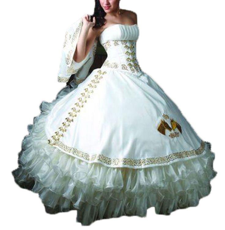 Gotidy Ever Pretty White Quinceanera Dresses 2016 GO148