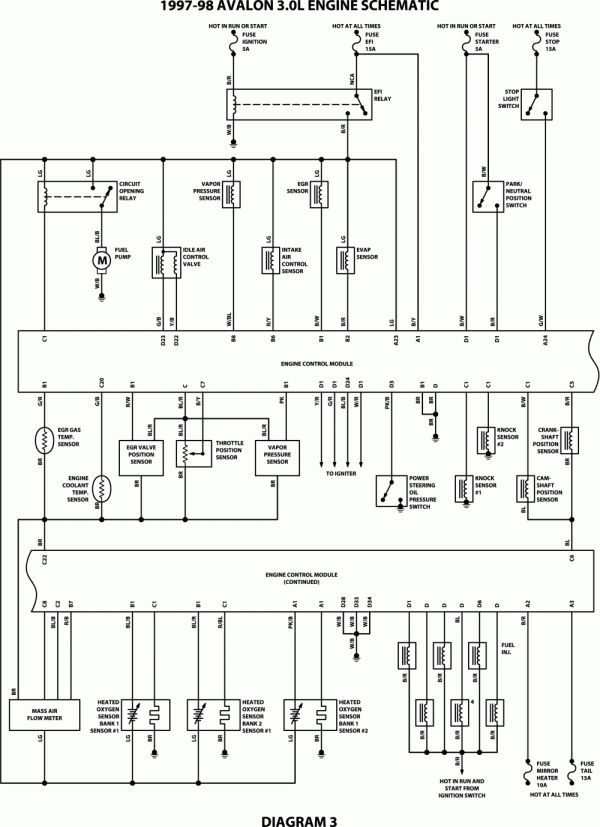 10 1997 Toyota Camry Electrical Wiring Diagram