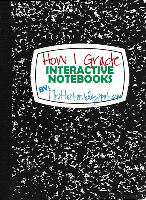 Mrs. Hester: How I Grade Interactive Notebooks - Since I teach middle school, I may look for how to grade at least my Algebra students.