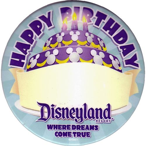 """One of favorite things to do in a Disney park is to get free buttons at Town Hall as soon as I get there. We've gotten ones for celebrating birthdays, anniversaries, honeymoon, my husbands first visit, and """"just celebrating"""" . It's a cute keepsake, and sometimes gets you extra attention from cast members"""