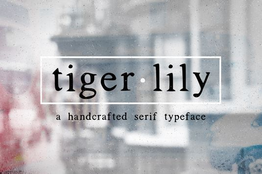 Font of the day: Tigerlily | Typography | Creative Bloq