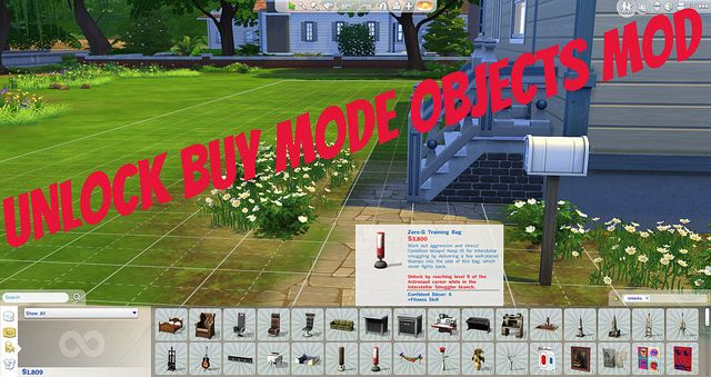 Unlock all Build/Buy Content Mod at Sims Vip