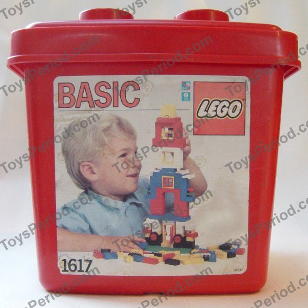 LEGO 1617 Small Red Bucket Basic Building Set Image 1