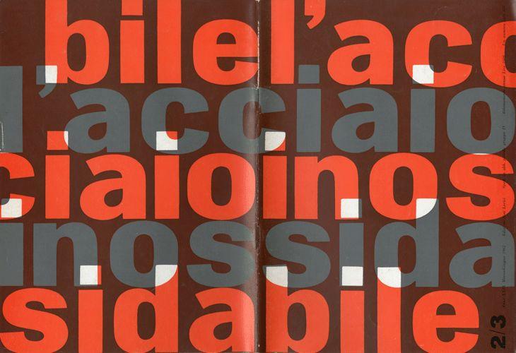 Ilio Negri and Giulio Confalonieri – L'acciaio inossidabile, N. 2/3, 1962