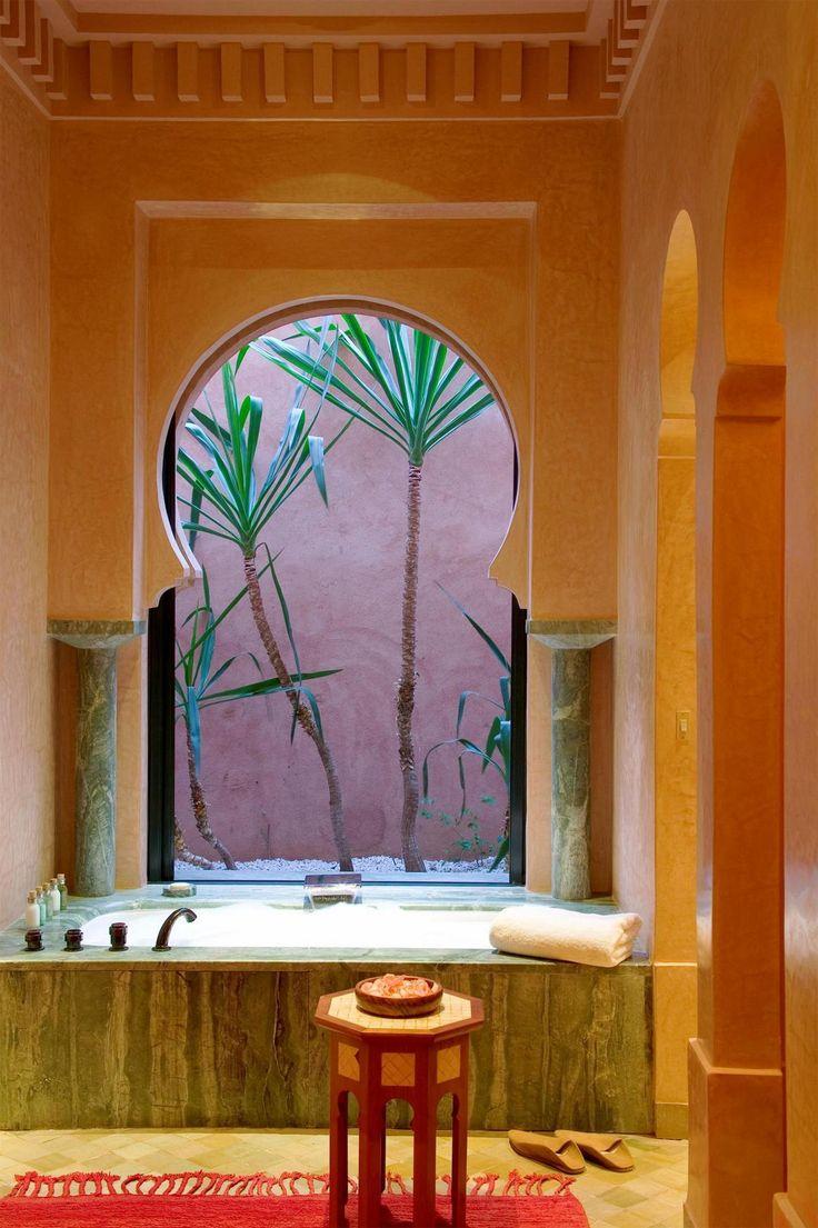 Amanjena Resort  Marrakech. architecture home house interior design dream bathroom