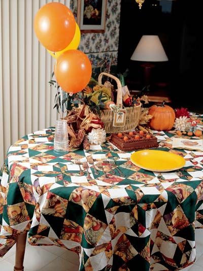 Quilting   Home Decor   Table Topper Quilt Patterns   Thanksgiving  Tablecloth Quilting Pattern   #