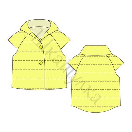Утепленный детский жилет (шитье, выкройки)