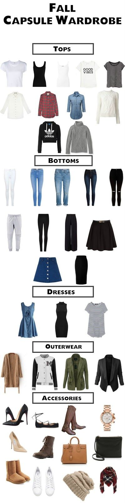 College Capsule Wardrobe For Fall. College will be so much easier with a…