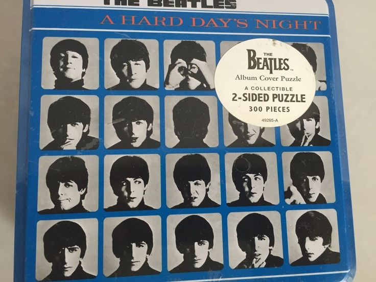 Beatles Hard Days Night Album Cover 2 Sided 300 Piece Puzzle by Hasbro Sealed