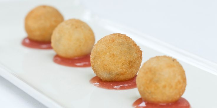 Galton Blackiston pairs a fruity, sweet grape jelly with gloriously indulgent stilton beignets in this canapé recipe