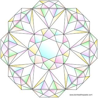 brilliant cut mandala to color plus some suggestions for coloring diamonds blank version available in - Diamond Coloring Page