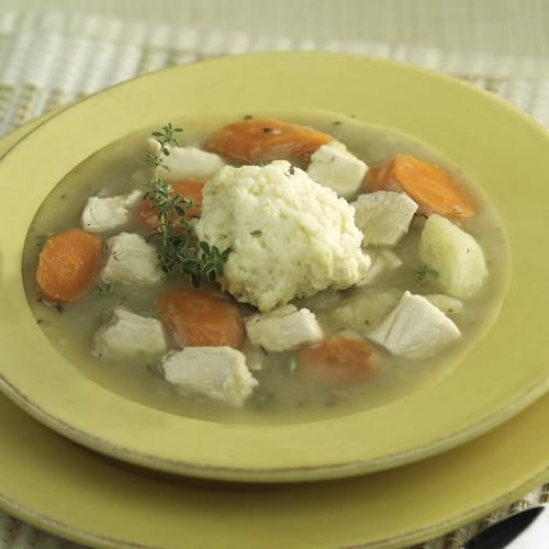This Acadian version of chicken and dumplings combines the comforting flavours of carrots,  potatoes, and chicken into a hearty autumn dish. Like most soups and stews, leftovers - if there are any -  taste even better the next day.