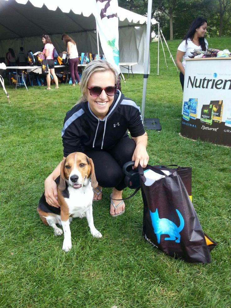 We had a great time at the #OakvilleHalfMarathon! Look how cute this #dog is!
