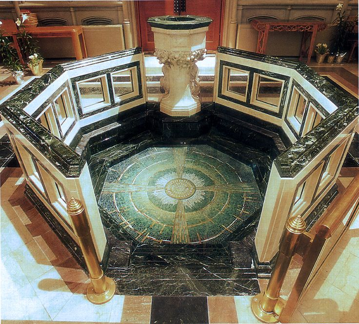 Cathedral Basilica of the Assumption, Baptismal Font; William E. Brocious, ACLS, Liturgical Design Consultant/ Architect