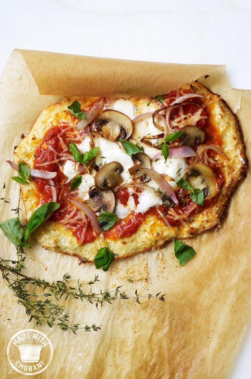 Winter Pizza With Chobani Yogurt Cauliflower Crust