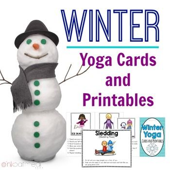 Winter Yoga Cards and PrintablesYoga can be calming, provide opportunities for strengthening and range of motion.  Best of all, yoga provides opportunities for learning.  Winter yoga is great to incorporate into the classroom everyday!   (note they are everyday objects and not pictures of kids in the yoga pose)  Don't worry if you want REAL KIDS in the poses Pink Oatmeal has those available too!