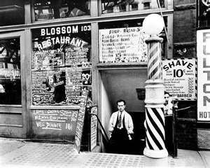 Barber Shop, New York City 1900