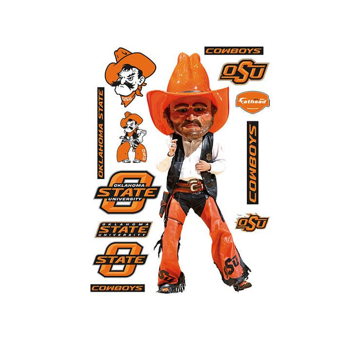 Oklahoma State Mascot - Pistol Pete Fathead Wall Decal
