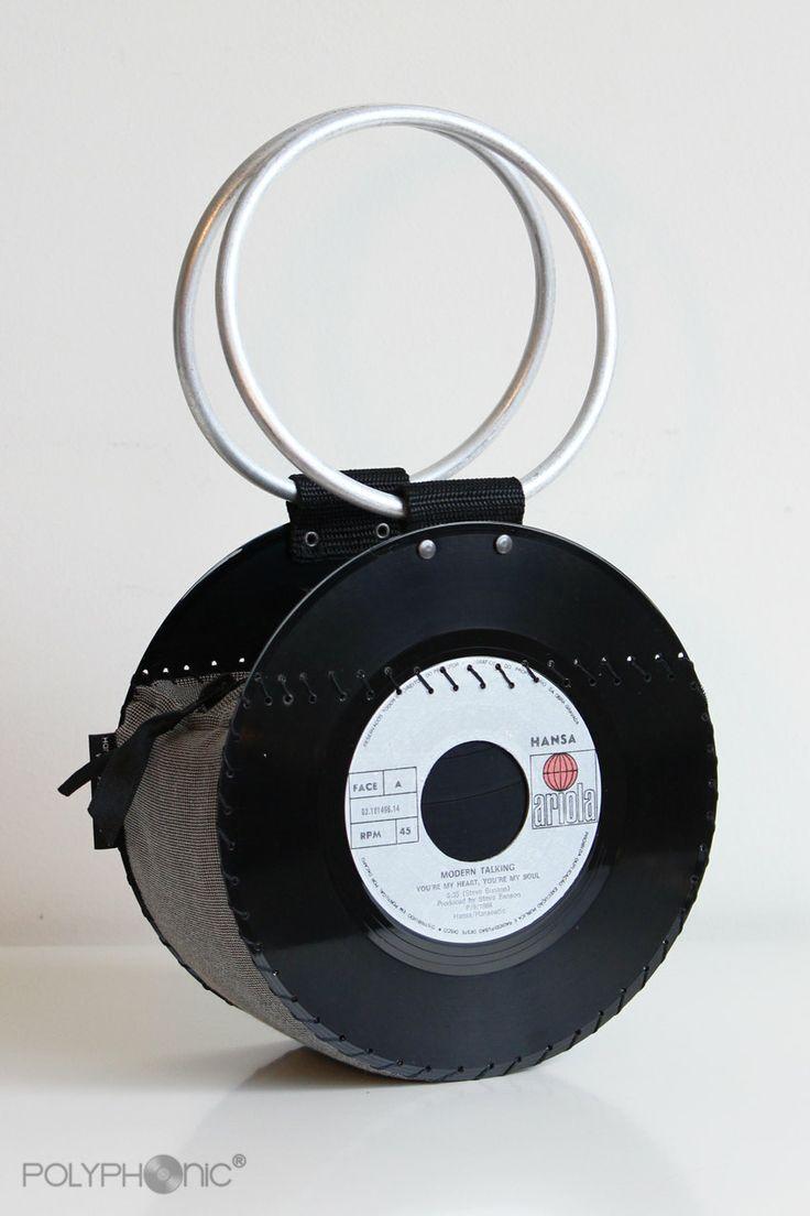 Vinyl Record sac à main / de soirée sac à main / par PolyphonicPT, €45,00