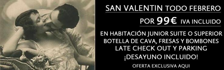 Solo 99€. Escapada Romántica todo el mes de Febrero, en el centro de Sevilla con +50% descuento. 1 Noche para 2 personas en Habitación Junior Suitte o Superior, con Cava, Fresas y Bombones. DESAYUNO INCLUIDO! http://hotelinglaterra.es/es/Oferta_San_Valentin_Hotel_Inglaterra_Sevilla_Centro