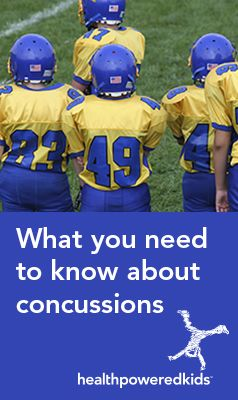 Will you recognize the signs and symptoms if your child suffers a concussion? http://www.healthpoweredkids.org/heads-up-what-you-need-to-know-about-concussions/