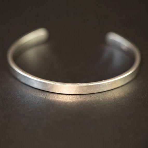 Silver Bangle Men's Silver Bracelet Cuff Bracelet