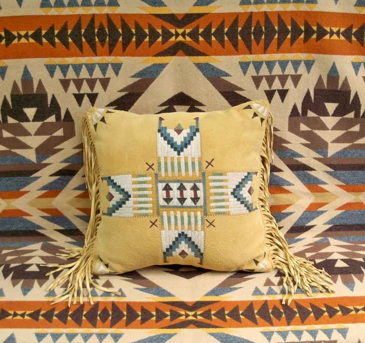 Southwestern Decor From H M: A NEW Native American Style Deerskin Pillow From Stargazer