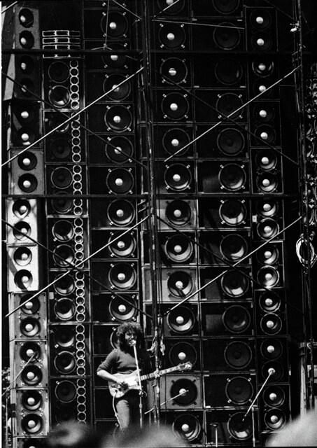 """Jerry Garcia and the """"Wall of Sound"""",1974"""