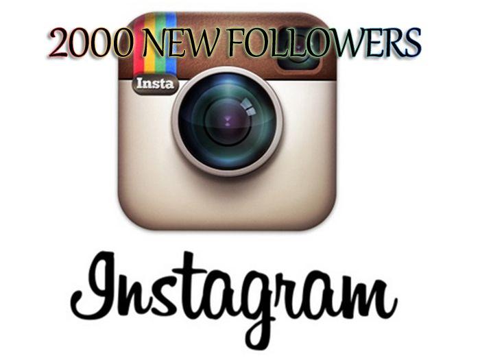 socialstatus777: send you 2000 INSTAGRAM Followers for $5, on fiverr.com