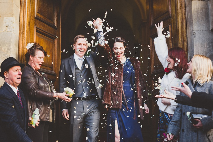 bath wedding photography, confetti