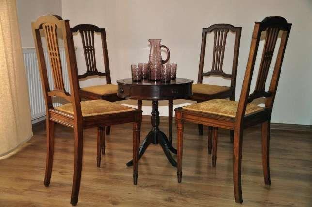 Francuskie, stylowe krzesła secesyjne - 4 sztuki Wieliczka - image 1