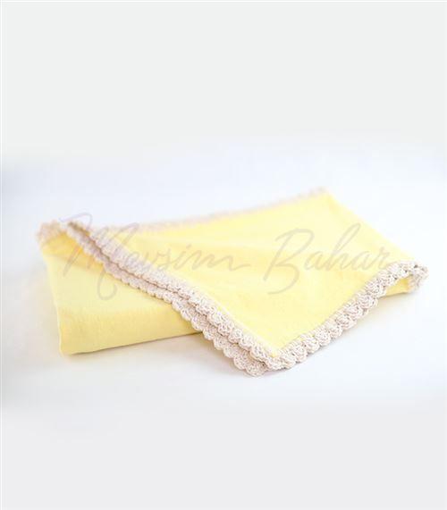 Pamuklu Bebek Battaniyesi Sarı