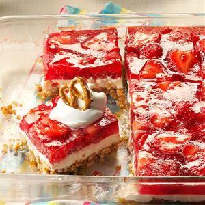 Strawberry Pretzel Dessert Recipe from Taste of Home