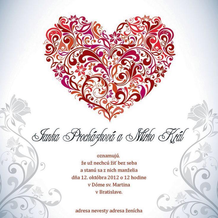 nádherné svatební oznámení od LarisDesign za skvělé ceny http://www.svatba-oznameni.cz/