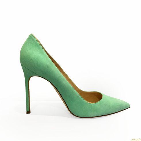 Manolo Blahnik Mint Green Heels