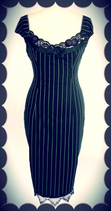 Envy Pinstripe Wiggle Dress - Envy - Collections