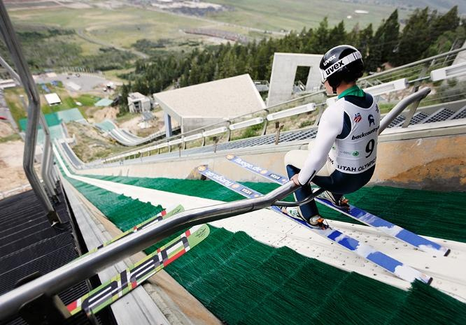 Lindsey Van is the 2009 world ski jumping champion. She spearheaded an effort to get women's ski jumping into the 2014 Winter Olympic Games. *Photographer:* Dan Campbell